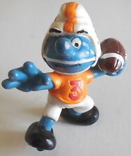 SMURFS PUFFO FOOTBALL GIOCATORE SCHLEICH 1983 MADE IN HONG KONG