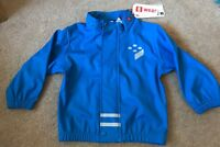 Boys Lego Waterproof Jacket Rain Coat Blue Size 18-24 Months Missing Hood New !