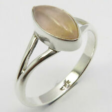 7.5 Sterling Silver Low Price Free Shipping Rose Quartz Ring Size