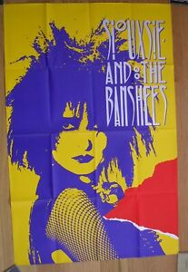 """SIOUXSIE & THE BANSHEES vintage UK poster new wave punk 60""""x40"""" litho"""