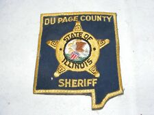 USA POLICE CLOTH BADGE PATCH ILLINOIS DU PAGE COUNTY SHERIFF. AMERICA UNUSED