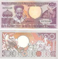 Suriname 100 Gulden 1986 P-133a NEUF NEU UNC Uncirculated Banknote - Toucan