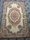 """ANTIQUE 19C ORIGINAL AUBUSSON FRENCH HAND WOVEN TAPESTRY RUG 48"""" By 73"""""""