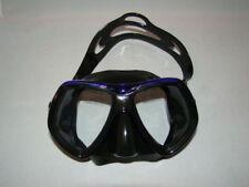 DIVING MASK BLUE/BLACK SOFT RUBBER COMFY STRAP  SCUBA  SNORLKING  WETSUIT 82