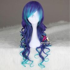 2018 Curly blue and purple synthetic Cosplay costume lolita synthetic wig