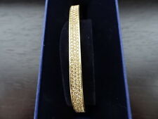 100% Authentic Swarovski Vio Bangle M - 5182116 Gold/Champagne Medium  BNIB
