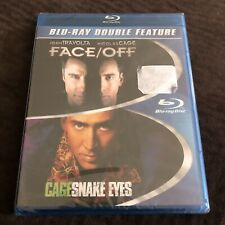 Face Off 1997 + Snake Eyes 1998 Nicolas Cage New 2 Disc Blu Ray