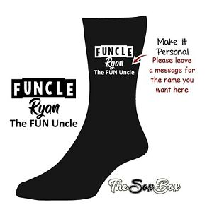 FUNCLE Uncle SOCKS Personalised Unclesaurus Best Awesome NOVELTY Birthday GIFT