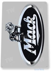 TIN SIGN Mack Truck Silver Auto Shop Stop Garage A113