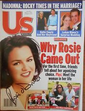 Signed ROSIE O'DONNELL US Magazine Autographed Gay Interest 2002 Kelli Carpenter