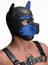 Spike Neoprene Puppy Hood Blue Black Bondage Pet Play BDSM Furry Furries Master