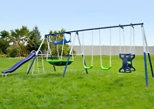 Swing Slide Set Kids Fun Playground Play/Activity Time Flying Saucer Outdoor New