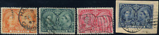 Canada #51-54 used F/VF 1897 Queen Victoria Diamond Jubilee Part Set cancels