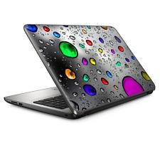 "Universal Laptop Skins Wrap for 14"" - colored rain drops 3d effect"