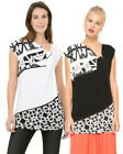 Desigual by L Lacroix Black and White Atomi Draped Top S-XXL RRP�54
