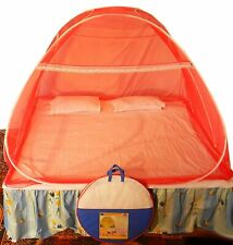 Foldable Polyester Double Bed Mosquito Net (Red) free shipping UK