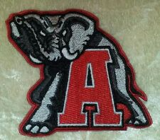 Alabama Crimson Tide Elephant  Iron On Embroidered Patch ~FREE Ship`!!