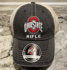 NEW Ohio State Buckeyes Rifle NCAA Mesh Back Hat Cap University Adjustable OSU