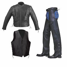 Solid Cowhide Leather Motorcycle Biker Scooter Racing Vented Jacket