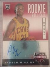 2014-15 Totally Certified Rookie Roll Call Autographs #RRCAW Andrew Wiggins RC