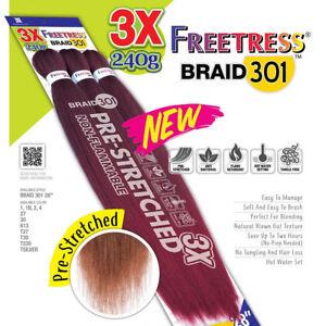 "3X BRAID 301 28"" - FREETRESS SYNTHETIC PRE-STRETCHED JUMBO BRAIDING (240g)"