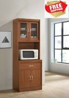 Modern Kitchen Cabinet, Home and Office Microwave Storage, with Drawer, Laminate
