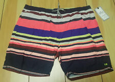 47c52d49d1 SCOTCH AND SODA Mens Striped Slim Fit BOARD SWIM SHORTS NEW XXL