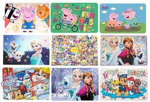 Tischunterlage Frozen Peppa Pig Paw Patrol Eiskönigin Emoji Tischset Unterlage