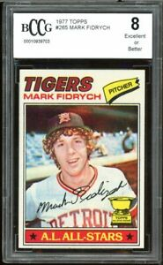 1977 Topps #265 Mark Fidrych Rookie Card BGS BCCG 8 Excellent+