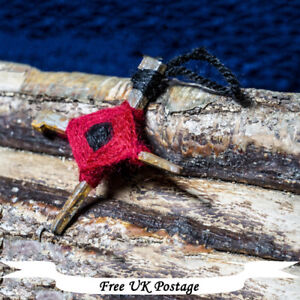"""Badb"" Cross - Talisman, Protection, Iron, Nails, Handmade, Wicca, Yorkshire"