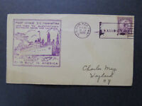 US 1932 SS Manhattan First Voyage Cover / SS Manhattan CDS - Z7375