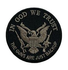 "in God We Trust 2nd Amendment Patch [3.0 inch -""Velcro Brand"" Fastener -ZL8]"