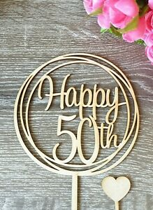 LARGE Happy 50th Cake Topper MADE IN AUSTRALIA 50 birthday party decorations