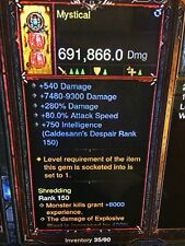 Diablo 3 PATCH 2.6.1 MODDED WIZARD POWER LEVEL WEAPON SOFTCORE WAND OF WOH