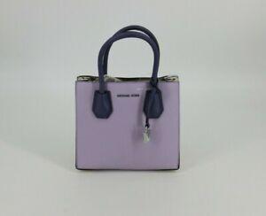 Michael Kors Mercer Studio Medium Messenger Bag Purse LT Quartz Purple Lilac