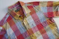 Orvis  Mens Short Sleeve Button Front Cotton Shirt MULTICOLOR SIZE LARGE L