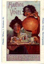 Hartwig & Vogel Wien u. Graz CACAO & CHOKOLADE Historische Annonce 1909