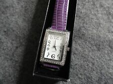 "New Ladies Avon Quartz Watch with a Purple ""Snake"" Band"