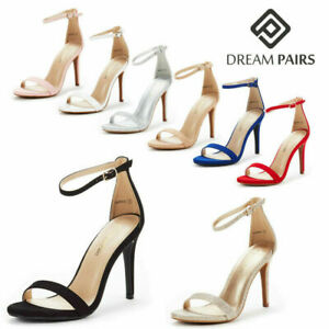 DREAM PAIRS Women's Stilettos High Heel Sandals Ankle Strap Wedding Party Shoes