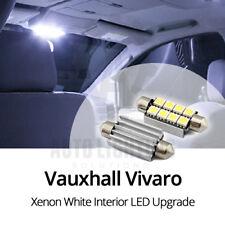 2x Opel Vivaro 8 SMD Interior LED Bombilla actualización Canbus Libre De Errores