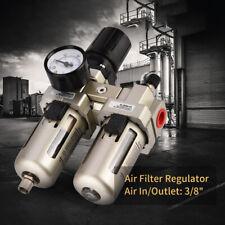 "Ac3010-03 Air Compressor Filter 3/8"" Water Separator Trap Kit With Regulator"