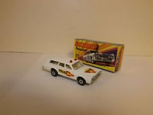 MATCHBOX S/F NO.55-B MERCURY POLICE COMMUTER WITH SIDE LABELS MIB