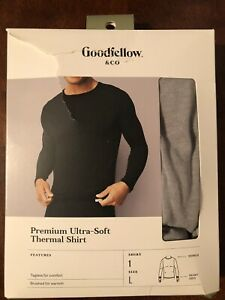 Men's Premium Ultra Soft Thermal Undershirt - Goodfellow & Co Gray L