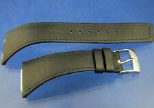 Vintage 1970s Omega 18mm Black Leather Watch Strap New 28mm Shoulder Megaquartz