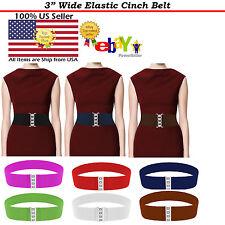 Fashion Elastic Cinch Belt Women 3 Inch Wide Stretch Elastic Belt Waist Trimmer