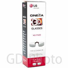 NEW in BOX LG AG-F420 CLIP-ON Passive Glasses for LG Cinema 3D TVLunettes Brille