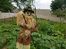 "Halloween Life-size 76"" Animated Harvester Scarecrow Haunted House Prop"