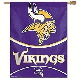 """Minnesota Vikings Vertical Banner  27"""" x 37"""""""