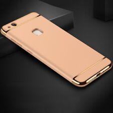 Funda de móvil, funda de protección para Huawei p10 Lite bumper 3 en 1 cover cromo estuche oro