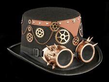 Steampunk Cylinder with Glasses - Strange Wanderer - Gothic Hat Glasses Carnival